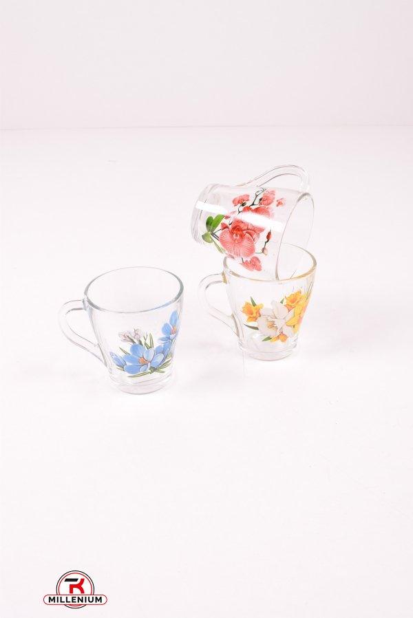 Чашка стеклянная 250 мл арт.1649