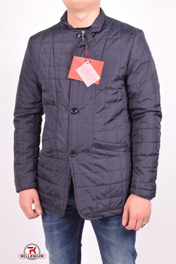 Куртка мужская из плащевки демисезонная Paolo Mark (цв.dark blue) Размеры в наличии : 48,52 арт.PS040