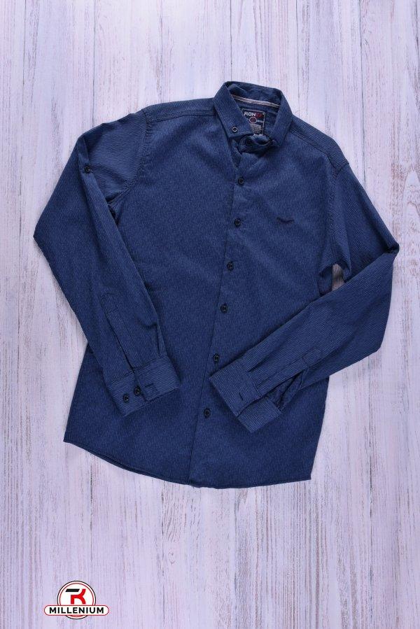 Рубашка мужская (натуральный хлопок, цв.синий) Ronex Размер в наличии : 44 арт.3042