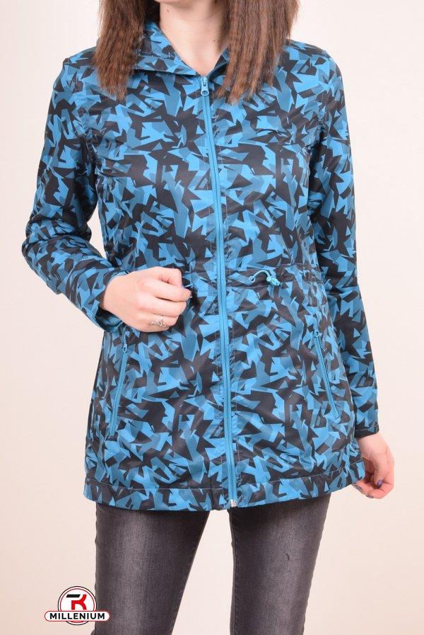 Ветровка спортивная женская (цв.голубой) из плащевки MARATON Размер в наличии : 46 арт.MWS1715682THC022