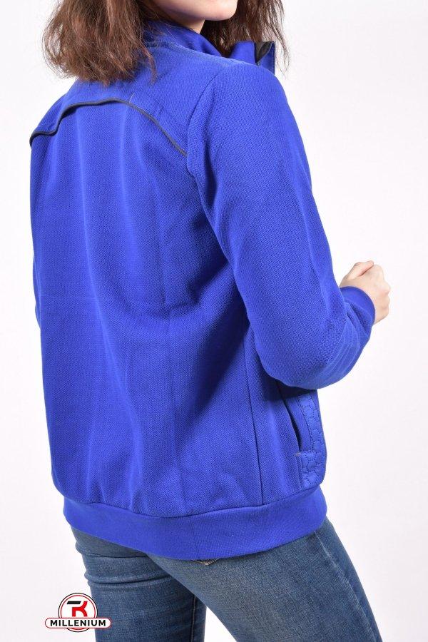 Кофта спортивная женская на флисе (цв.синий) ткань Lacoste MARATON Размеры в наличии : 40,42,44,46 арт.12073