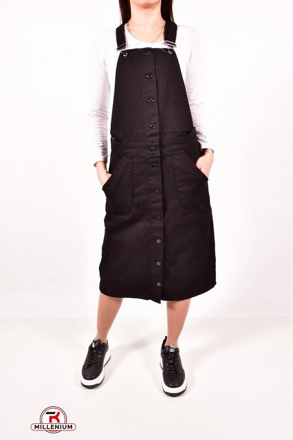 Сарафан джинсовый женский (цв.черный) Размеры в наличии : 42,44,46,48 арт.2233