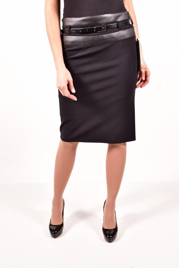 Юбка женская (цв.чёрный) MY SEWO Размеры в наличии : 42,44,46,48 арт.2060