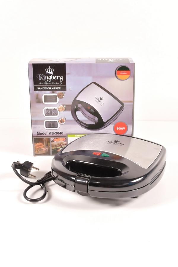 Сэндвичница 3в1 (тостер, гриль, вафельница)  800Вт. Kingberg арт.KB-2046