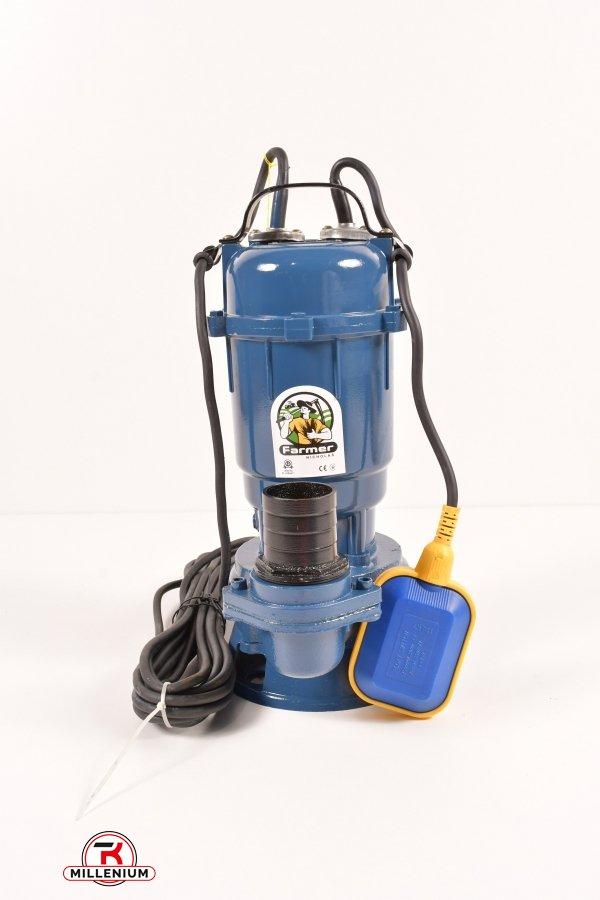 Насос фекальный FARMER WQD 1100 1,1кВт (чугун) с измельчителем  8 м кабеля арт.16480