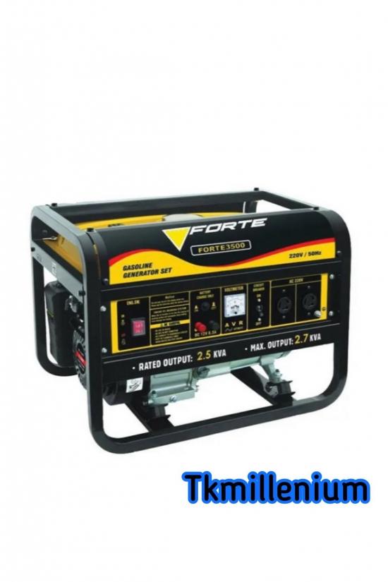 Генератор бензиновый FORTE (2,5кВт, бак 15,0л, затр. топ.550гр/кВт, 4-х тактный двигатель) арт.FG3500