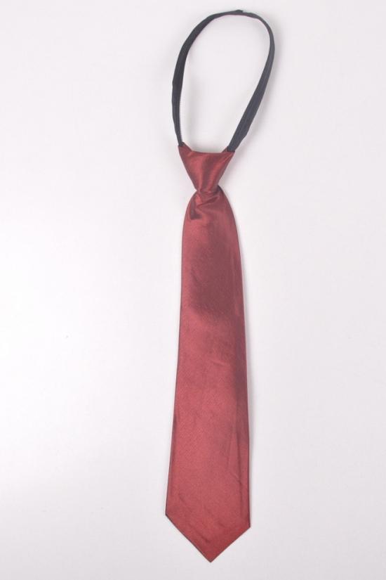 Галстук для мальчика однотонный (33 см.) арт.средний