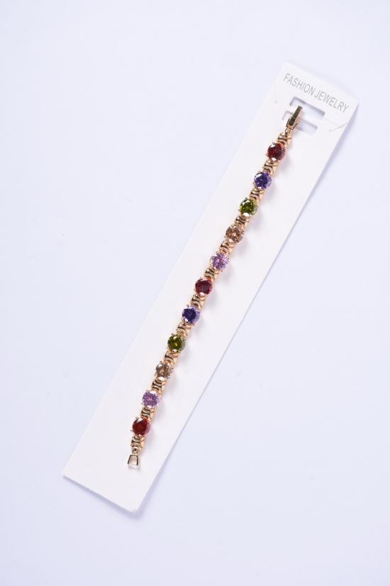 Браслет женский под золото Fashion Jewelry 16 см арт.001100