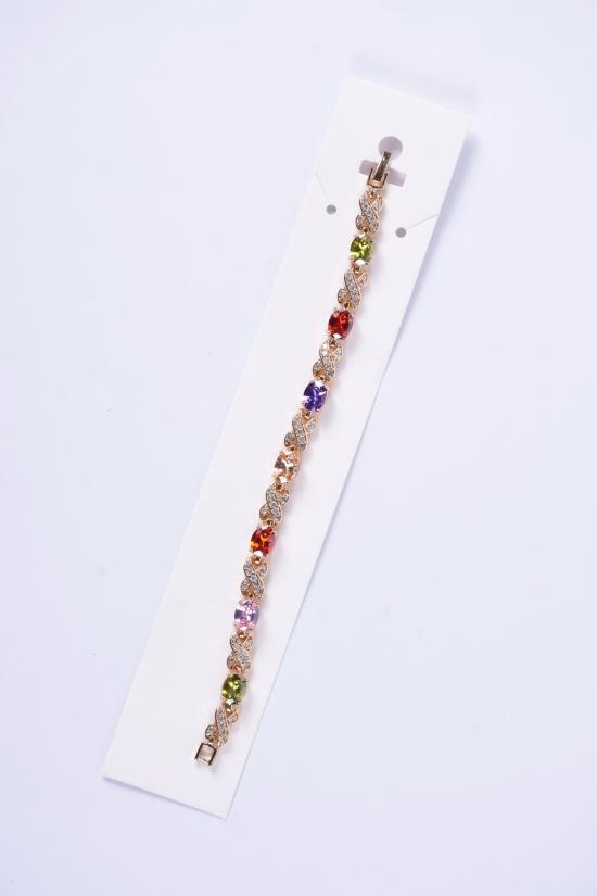 Браслет женский под золото Fashion Jewelry 16 см арт.003300