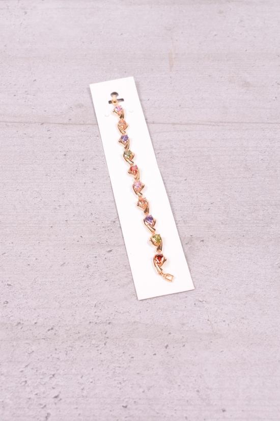 Браслет женский под золото Fashion Jewelry 17 см арт.0025000