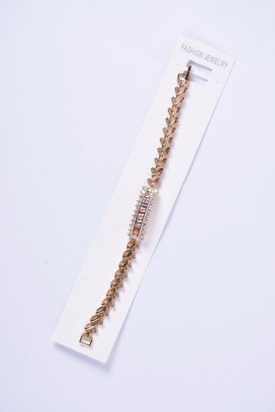 Браслет женский под золото Fashion Jewelry 17 см арт.9170024-1