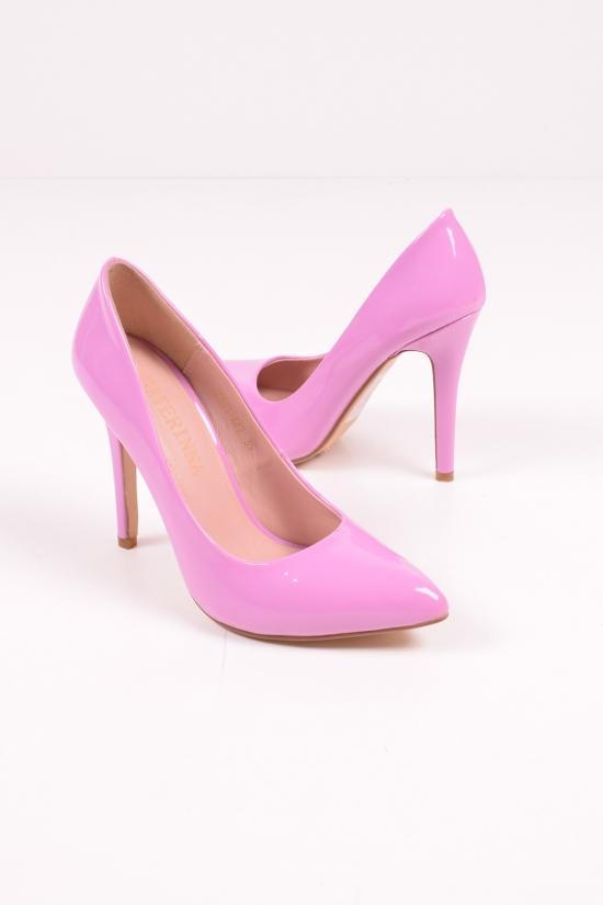 Туфли женские лаковые на каблуке (цв.Purple 3-705) Gaterinna Размер в наличии : 35 арт.K501-A42