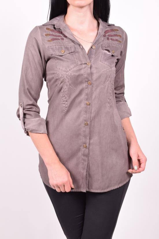Рубашка женская котоновая QUEEN Размер в наличии : 40 арт.1223