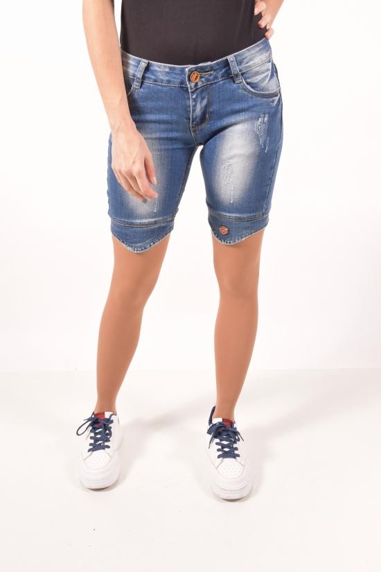 Шорты женские джинсовые стрейчевые WOKA LESI Размеры в наличии : 25,26 арт.W1114