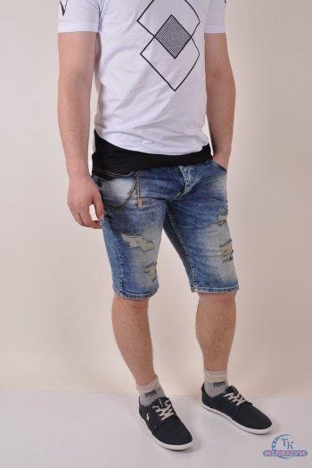 Шорты мужские джинсовые стрейчевые DANGER SlimFit Размер в наличии : 30 арт.6196