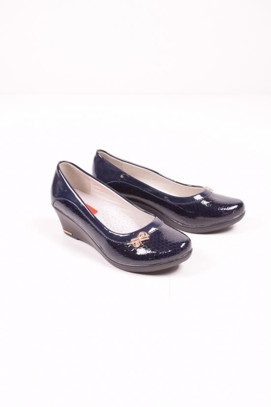 """Туфли для девочки лаковые """"Леопард"""" Размеры в наличии : 33, 34 арт.AB45-2"""