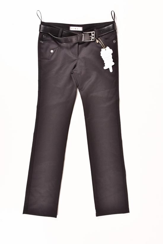 Брюки с поясом для девочки (цвет черный)  AWADORE Роста в наличии : 134,140,146,152 арт.210