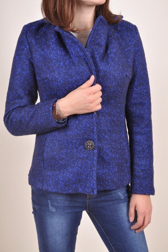 Полупальто женское демисезонное (цвет темно-синий) Размер в наличии : 42 арт.563