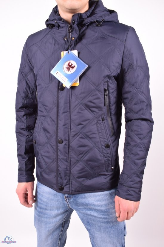 Куртка мужская из плащевки (цвет темно-синий) демисезонная BOOS JACK Размер в наличии : 48 арт.JK-8861