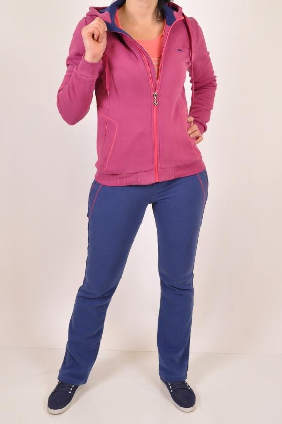 Костюм спортивный женский трикотажный на флисе (цв.фиолетовый) MARATON (Cotton 95%,Polyester 35%) Размеры в наличии : 42,44,48 арт.10402-TK