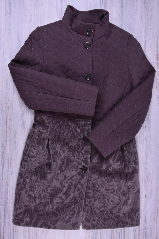 Пальто женское кашемировое демисезонное RICCO Размер в наличии : 46 арт.румянец