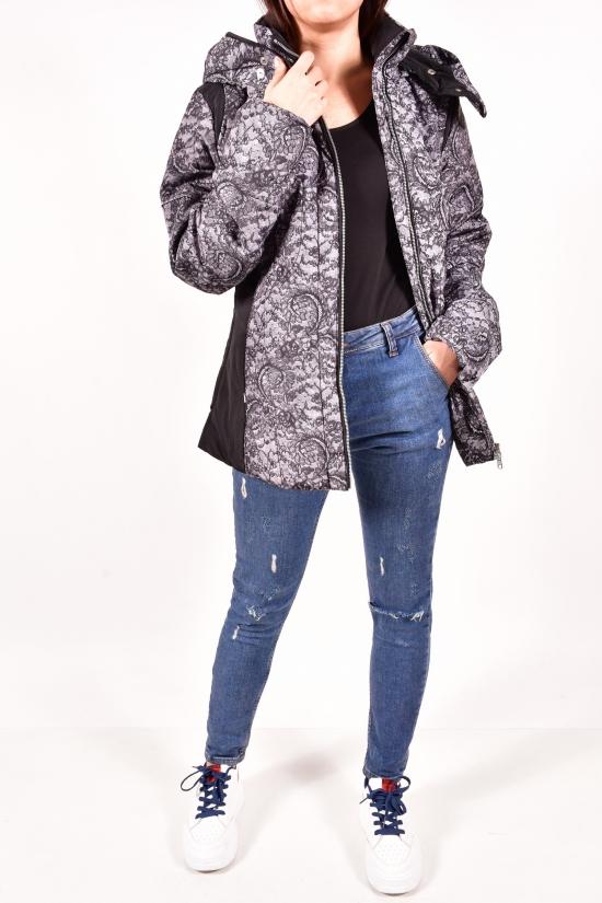 Куртка женская (цв.черный) демисезонная из плащевки Billcee Размеры в наличии : 42,46 арт.13K4901-EL