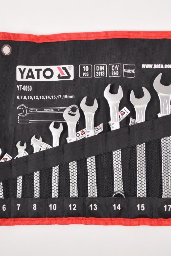 Набор ключей комбинированных 6-19мм., 10шт. YATO арт.YT-0060