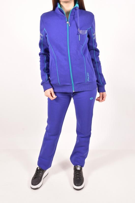 Костюм спортивный женский трикотажный на флисе (цв.фиолетовый) Billcee (Cotton 93%,Polyester 7%) Размеры в наличии : 40,46 арт.14K6600-3IP