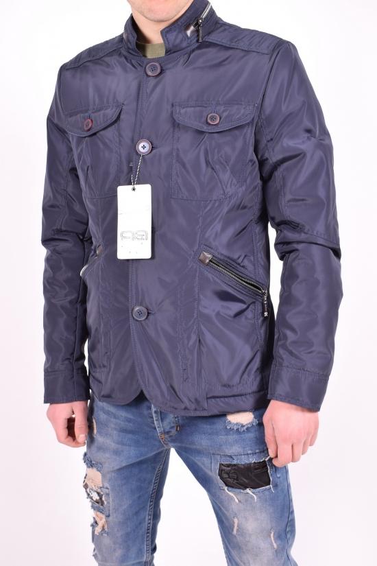 Куртка мужская из плащёвки демисезонная (цвет тёмно-синий) Beautiful Planet Размер в наличии : 46 арт.23К