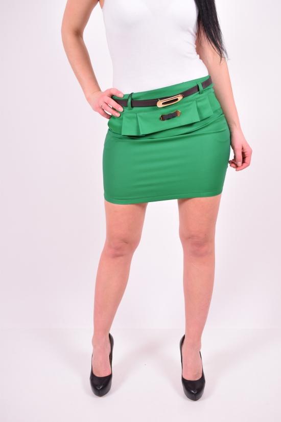 Юбка женская стрейчевая с поясом (цв.зелёный) Размеры в наличии : 36,38,40,42 арт.732