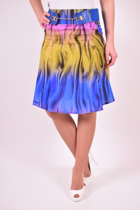 Юбка женская с поясом Slow (Lycra 5%,Polyester 62%,Viscose 32%) Размер в наличии : 42 арт.5029