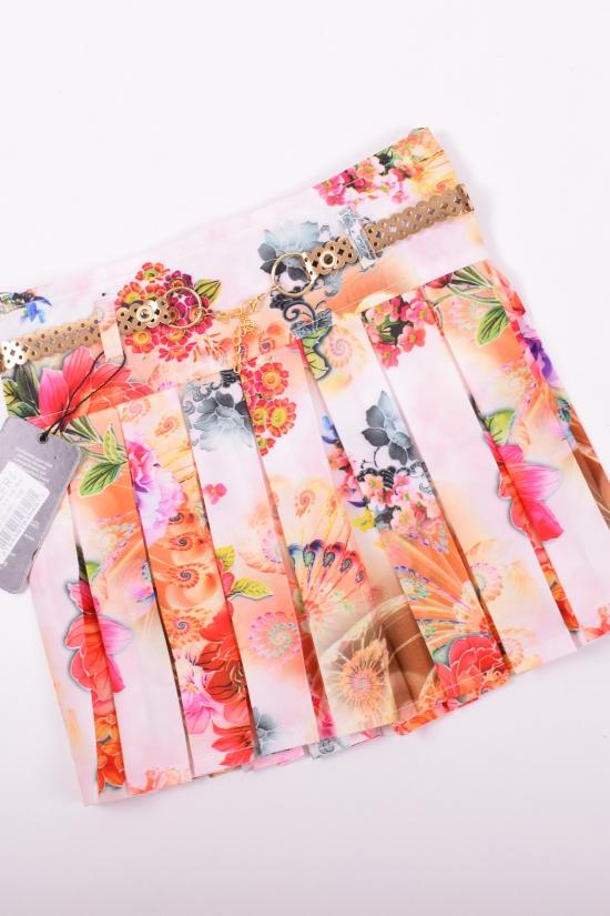 Юбка для девочки (цв.персиковый) CEFRI KIDS Роста в наличии : 92,104 арт.3568