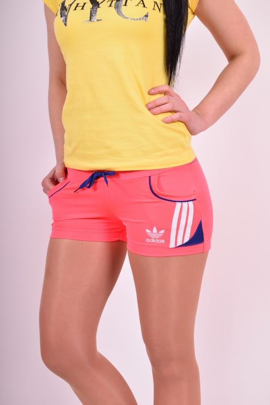Шорты женские эластиковые (цв.розовый/синий) Adidas Размеры в наличии : 38,40,42,44,46 арт.03