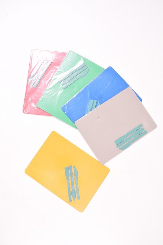 Доска для пластилина со стэками формат А4 размер 250/195 мм. арт.стек