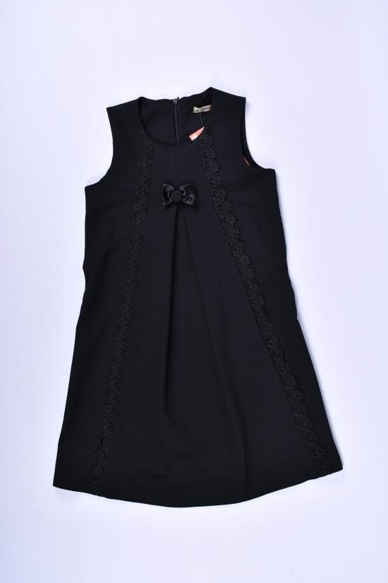 Сарафан школьный для девочки (цв.черный)  BROWS KIDS (Lycra 5%,Polyester 70%,Viscose 25%) Роста в наличии : 116,122,134 арт.34676