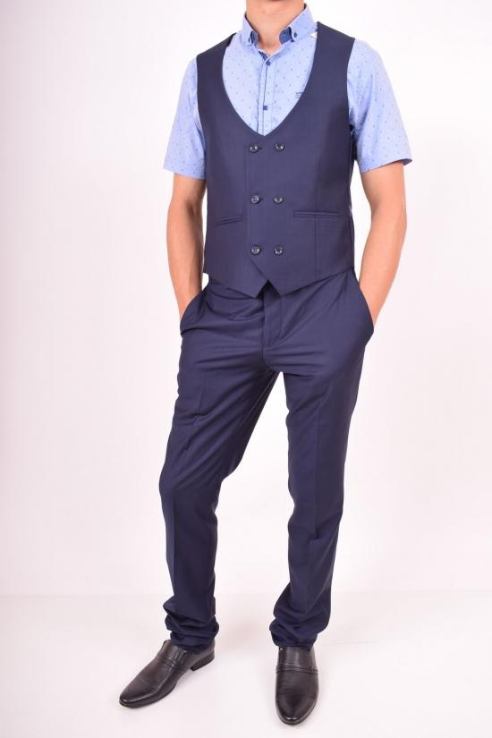 Костюм классический мужской цвет 10 рост 6 Palmiro rossi (Polyester 10%,Viscose 90%) Размеры в наличии : 46, 48 арт.324