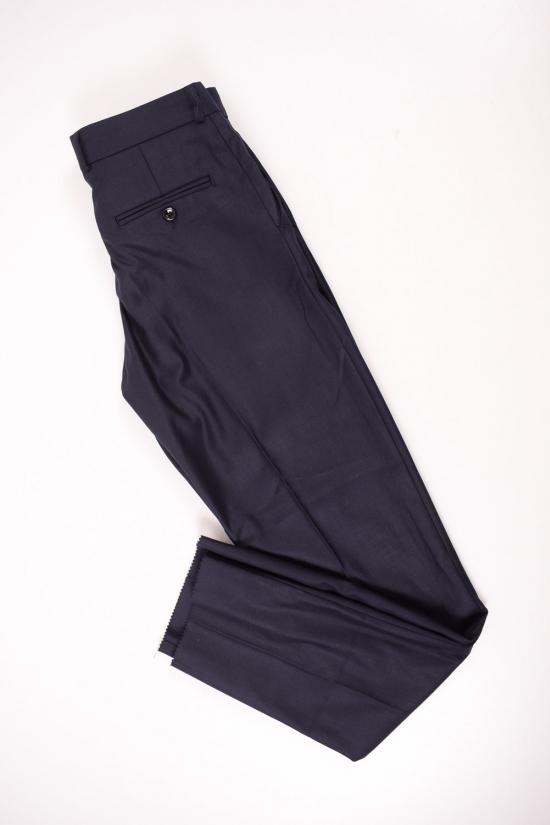 Брюки классические для мальчика (цв.т.синий) BOLD (Polyester 35%,Viscose 65%) Размеры в наличии : 34,36,38,40,42 арт.19002