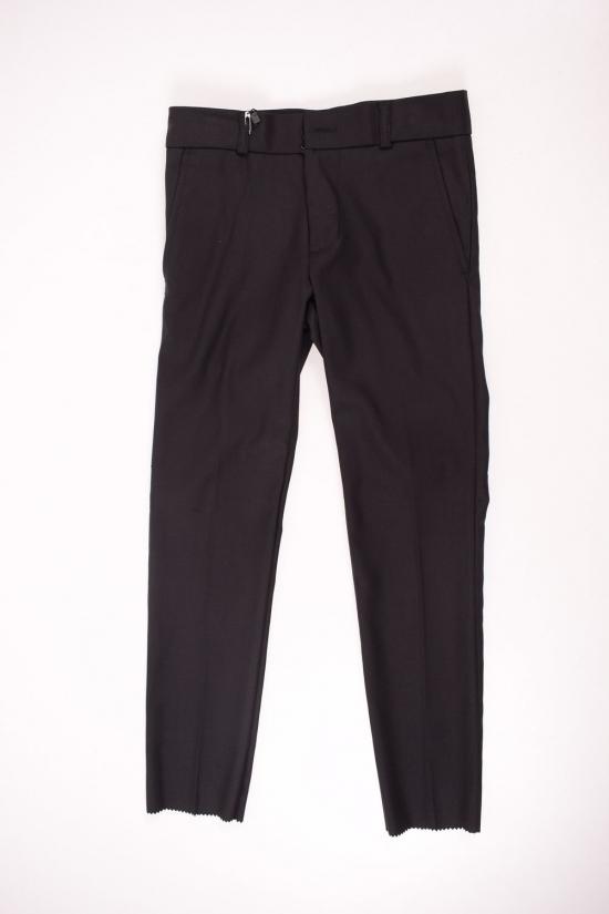 Брюки классические для мальчика (цв.черный) BOLD (Polyester 35%,Viscose 65%) Размеры в наличии : 28,34,36 арт.19502