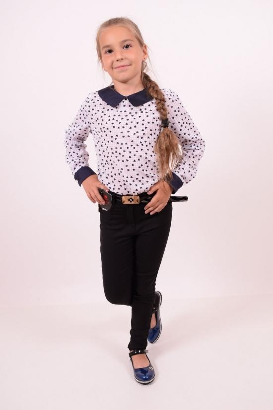 Брюки для девочки с поясом стрейчевые (цв.черный) Размер в наличии : 25 арт.208