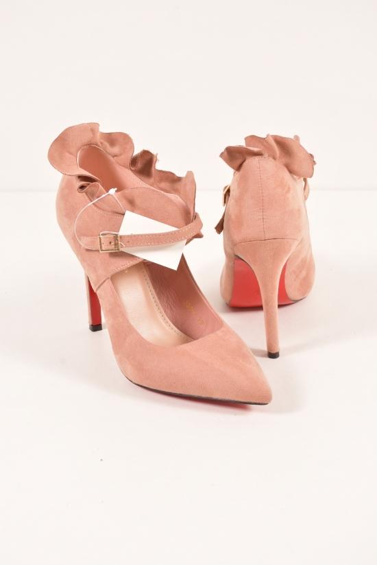 Туфли женские замшевые Kamengsi Размер в наличии : 39 арт.335-1