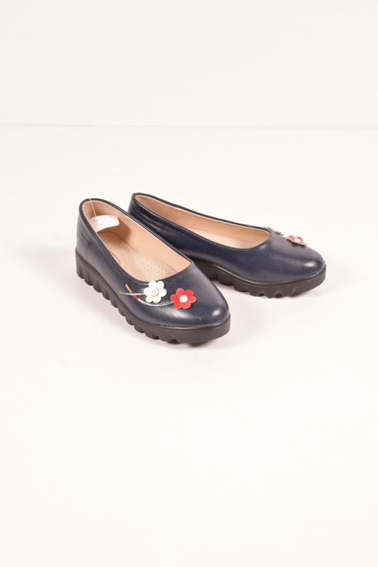"""Туфли для девочки из кожзама """"Бабочка"""" Размеры в наличии : 31,32 арт.801-10"""