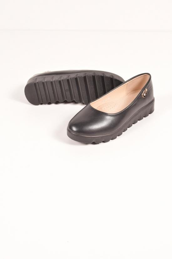"""Туфли для девочки из кожзама """"Бабочка"""" Размеры в наличии : 32,33 арт.801-5"""