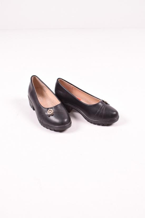 """Туфли для девочки из кожзама """"Бабочка"""" Размеры в наличии : 25,26,27 арт.805-123"""