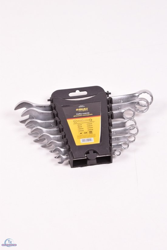 Ключи рожково-накидные (8шт.) 6-19мм CrV арт.6010111