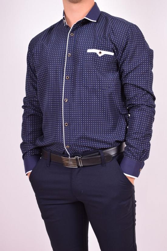 Рубашка мужская (Slim Fit) Bagin (Cotton 80%,Polyester 20%) Размер ворота в наличии : 36,37 арт.LD16.99-2