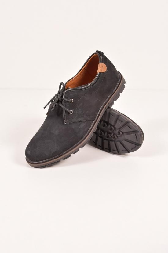 Туфли мужские из нубука (цв.черный) Размеры в наличии : 40,44,45 арт.275/4