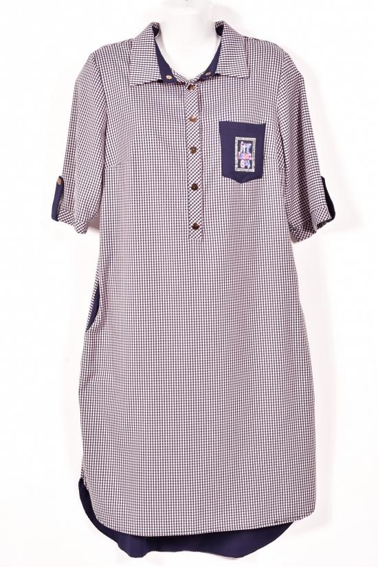 Платье женское рукав 3/4 SUNLEES (Cotton 90%,Elastane 10%) Размер в наличии : 50 арт.0041050SNL