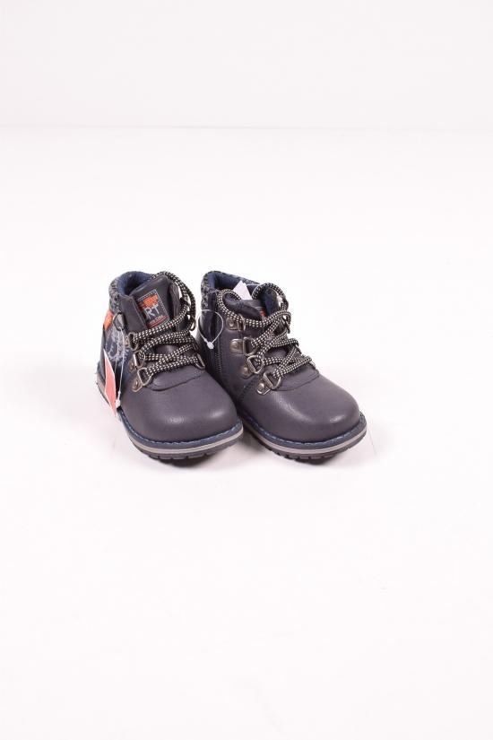 """Ботинки для мальчика демисезонные (цв.синий) """"Леопард"""" Размеры в наличии : 22,23,24,25,26 арт.W993-2"""