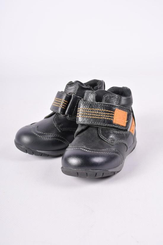 """Ботинки для мальчика демисезонные (цв.чёрный) """"Леопард"""" Размеры в наличии : 22,23,24,25,26,27 арт.W190-1"""