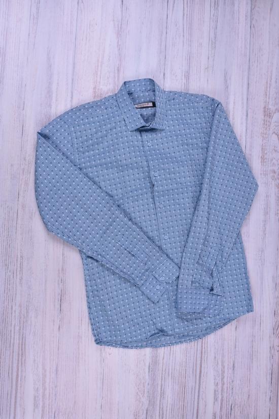 Рубашка мужская  (цв.синий/голубой) (slim fit)  businessX (Cotton 70%,Polyester 30%) Размеры в наличии : 44,46,48,50 арт.кубики